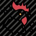 bird, cock, farm animal, hen, specie, wildlife icon