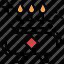 bunsen burner, burner, hob, kitchen appliance, kitchen stove, stove icon