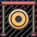 chinese, gong, imlek, instrument, new, year