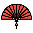asian, chinese, fan, new, year icon