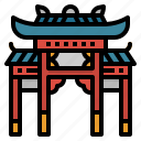 asian, chinese, gate, new, year icon