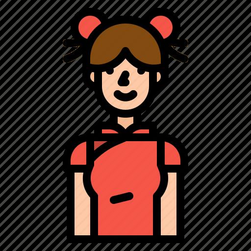 avatar, china, chinese, girl, woman icon