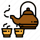 chinese, cup, pot, tea, teapot icon