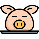 chinese, chinese new year, culture, decoration, head, pig, pork icon