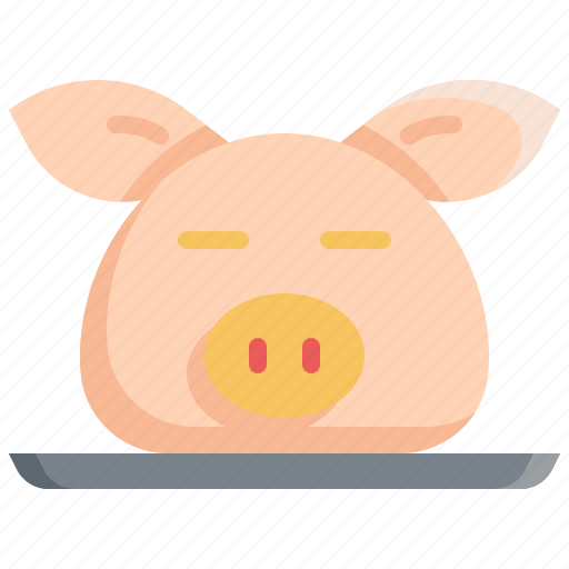 chinese, chinese new year, culture, decoration, head, pig icon