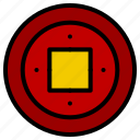 chinese, coin, fortune, gold, luck icon