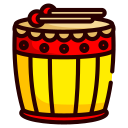 chinese new year, drums, instrument, chinese, music, song, sound icon