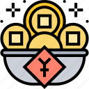 gold, wealth, treasure, money, rich