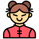 avatar, china, girl, people, person icon