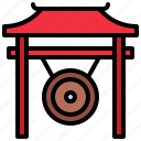gong, instrument, instruments, music, orchestra, oriental, percussion icon