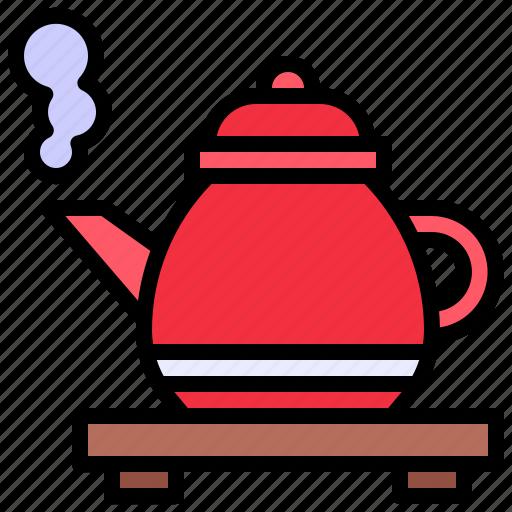 coffee, drink, food, hot, kettle, pot, tea icon