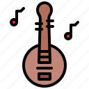 china, chinese, instrument, musical, yueqin icon