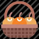 asian, basket, celebration, fruit, oranges icon