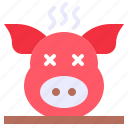 china, cooked, cultures, new, pig, year icon