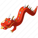 dragon, chinese, tradition, new year icon