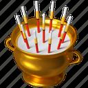 incense, pot, celebration, chinese new year icon