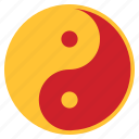 chinese, lunar, new, yang, year, yin, yin and yang icon