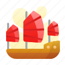 chinesse, new, ship, war, year icon