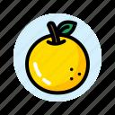 chinesse, fruit, leaf, new, orange, year icon