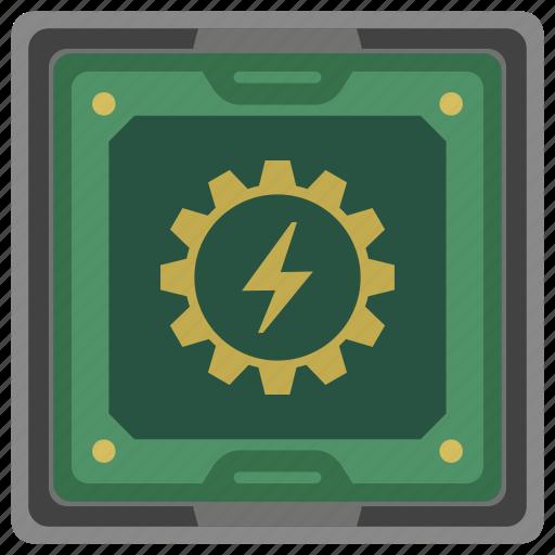 border, box, chip, chipset, cpu, processor icon