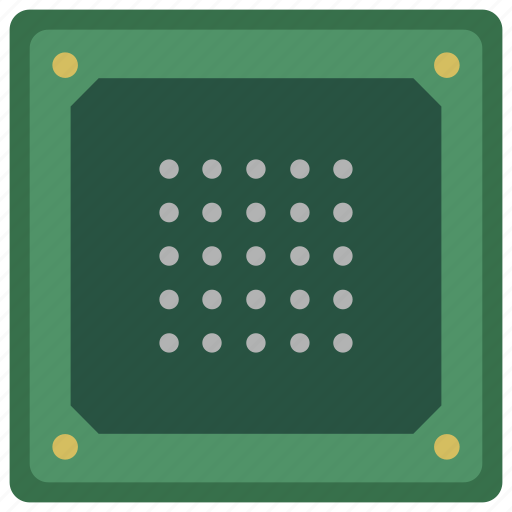 backside, chip, chipset, cpu, processor icon