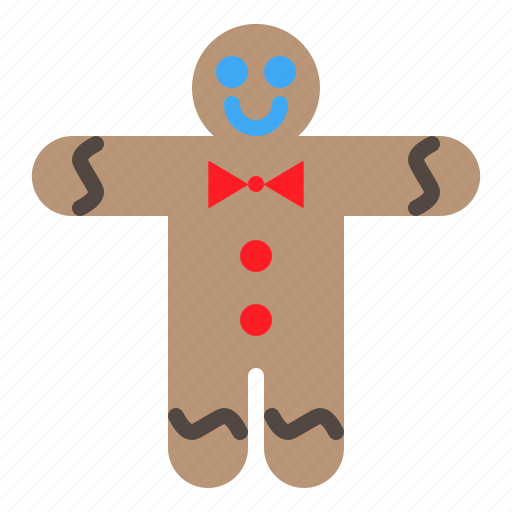 christmas, cookie, gingerbread, man, merry, xmas icon