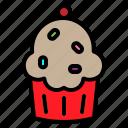 cake, christmas, cup, cupcake, fruit, sweet, xmasmuffin icon