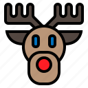 animal, christmas, deer, elk, wild icon