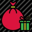 bag, christmas, gift, xmas icon