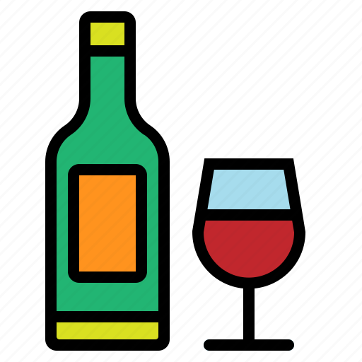 alcohol, champagne, christmas, wine icon