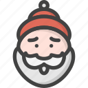 beard, christmas, claus, man, old, red, santa icon