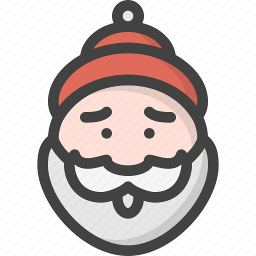 beard, christmas, claus, old, person, red, santa icon