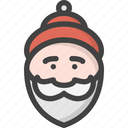 beard, claus, man, old, red, santa, winter icon