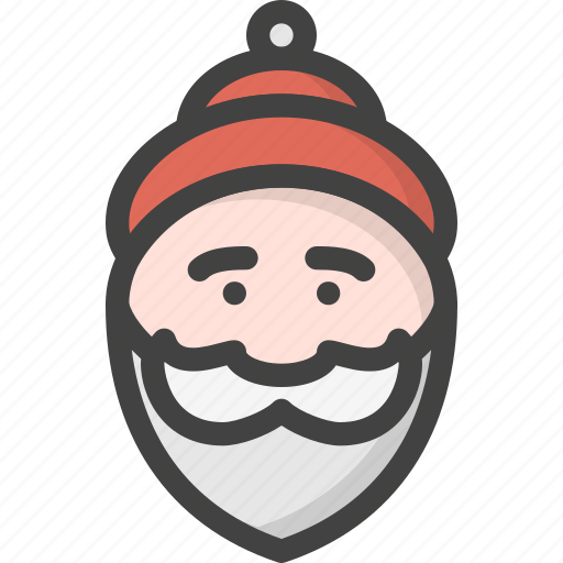 beard, christmas, claus, old, red, santa, winter icon
