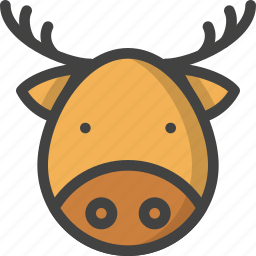animal, christmas, claus, holiday, reindeer, santa, winter icon