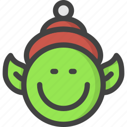 chistmas, claus, elf, help, santa icon