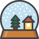 ball, christmas, gift, snow, winter icon