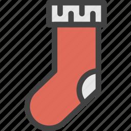 christmas, gift, socks, surprise icon