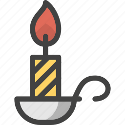candle, fire, flame, light, lighter icon