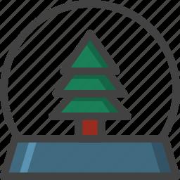 ball, christmas, gift, glass, tree, winter icon