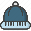 christmas, cold, hat, head, snow, wear, winter icon