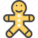 bizkuit, cookie, man, sugar icon