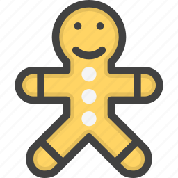 bizkuit, cookie, man, sugar icon
