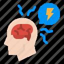brain, headache, sick, stress, thunder