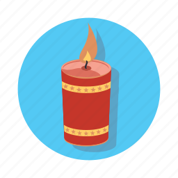 burning, candle, christmas, decoration, light icon