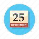 calendar, christmas, date, holiday, xmas icon