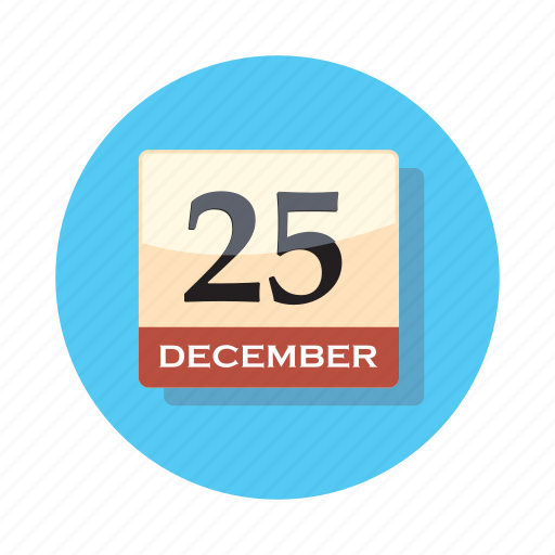 calendar, christmas, date, holiday, xmas icon