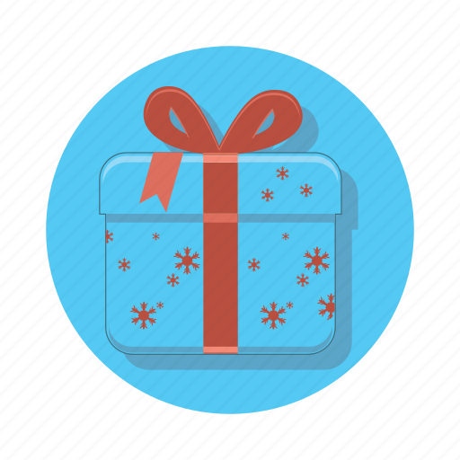 box, christmas, gift, package, present, snowflake icon