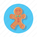 cake, christmas, gestures, ginger, gingerbread icon
