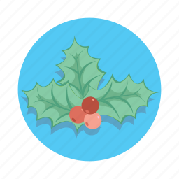 berry, christmas, decoration, leaf, tree icon